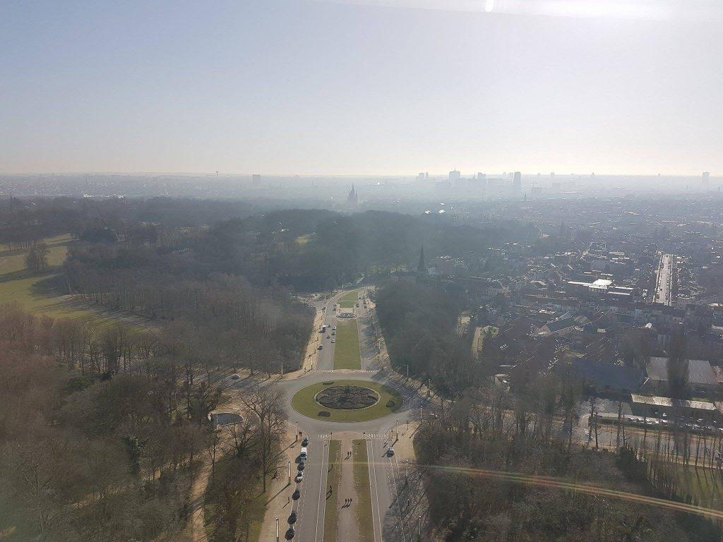 Bruxelles en Belgique vu du ciel