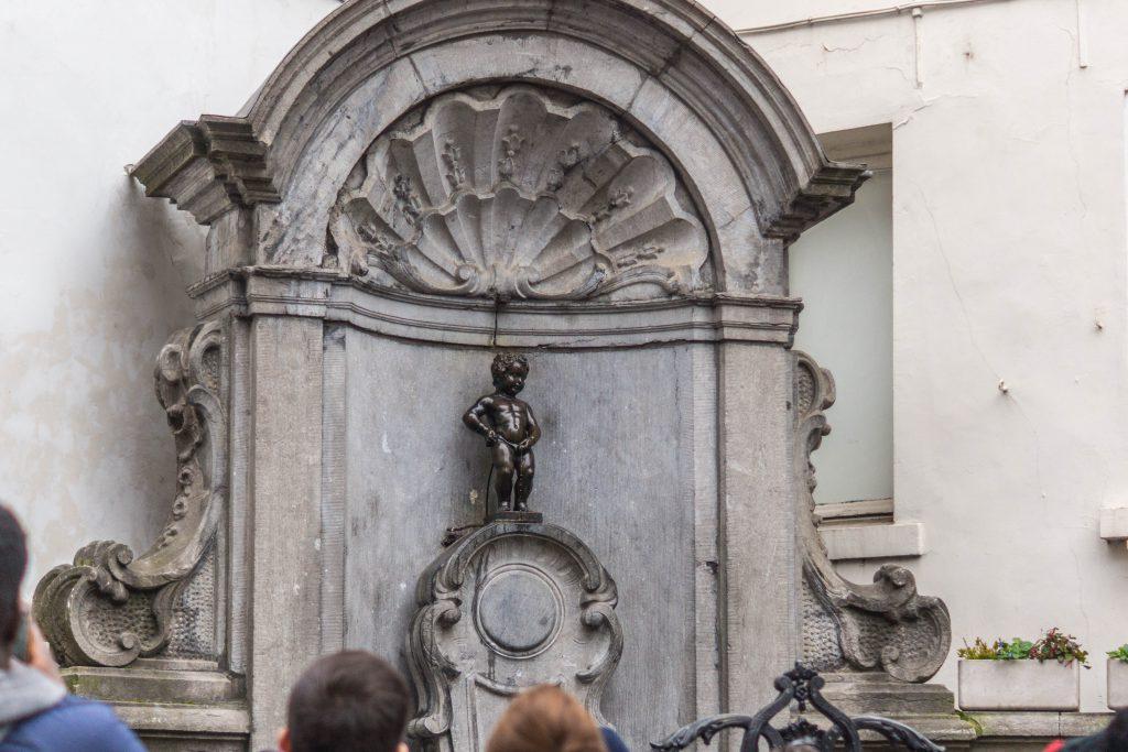 Le Manneken Pis à Bruxelles en Belgique